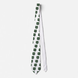 Graphic Green Four Leaf Cover Tie