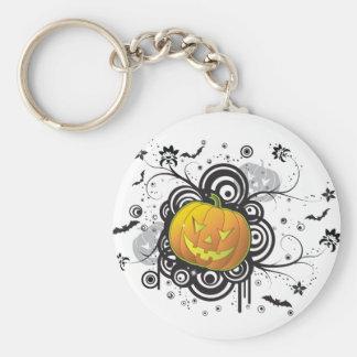 Graphic Halloween Jack-O-Lantern Key Chains