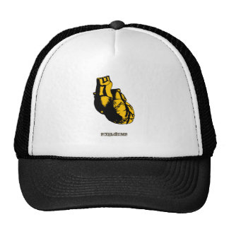 Graphic Heart Hats
