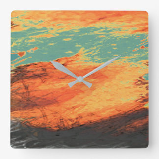 Graphic Holiday Square Wall Clock