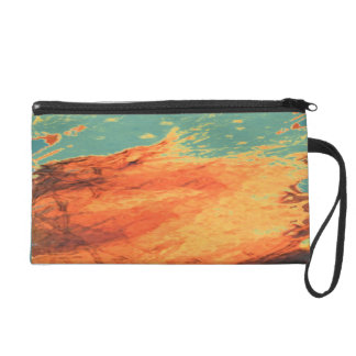 Graphic Holiday Wristlet
