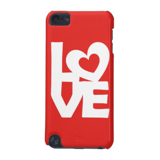 Graphic Illustration I love You with heart on red iPod Touch 5G Cases