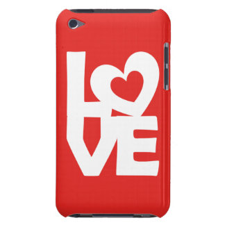 Graphic Illustration I love You with heart on red iPod Touch Case-Mate Case
