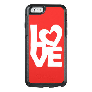 Graphic Illustration I love You with heart on red OtterBox iPhone 6/6s Case