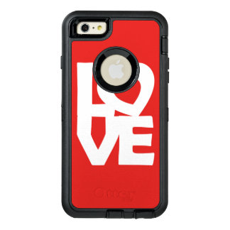 Graphic Illustration I love You with heart on red OtterBox iPhone 6/6s Plus Case