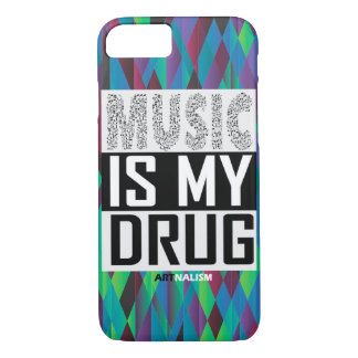 "Graphic iPhone 7 Phone Case ""Music is my drug"""