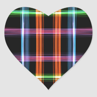 Graphic Lines Heart Sticker