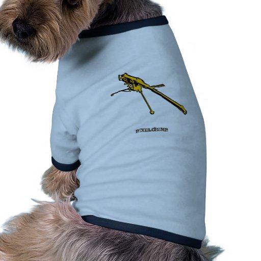 Graphic Machine Gun Pet Shirt