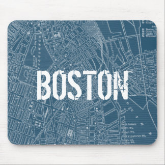Graphic Map of Boston Mouse Pad