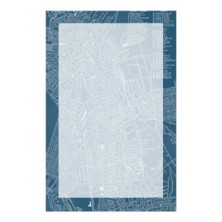 Graphic Map of Boston Custom Stationery
