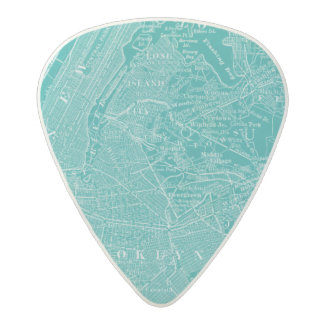 Graphic Map of New York Acetal Guitar Pick