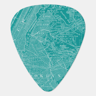 Graphic Map of New York Plectrum