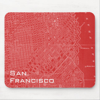 Graphic Map of San Francisco Mouse Pad