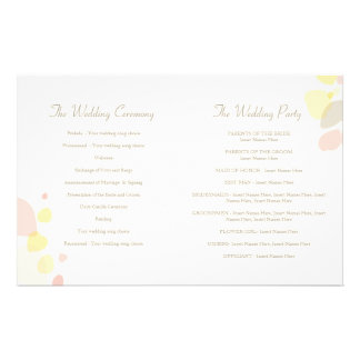 Graphic modern flower petals Wedding Programme 14 Cm X 21.5 Cm Flyer