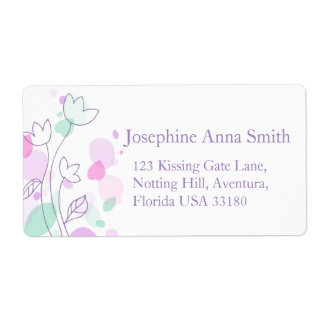 Graphic modern wedding return reply large address shipping label
