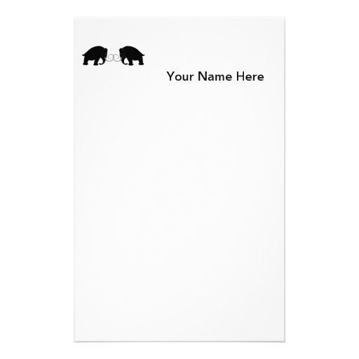 Graphic of 2 Mammoths Stationery Design