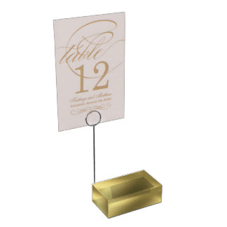Graphic Old Gold Table Card Holder