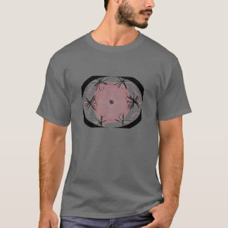 Graphic Oval  Grey Art Tee Shirt