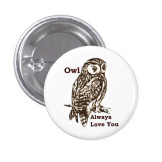 Graphic Owl Love Pin