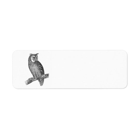 Graphic Owl Return Address Label