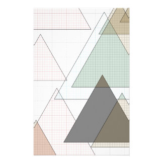 Graphic paper of triangles graph PAPER Stationery Design