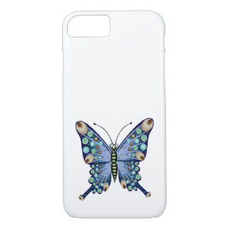 Graphic Pastel Blue Spotted Butterfly iPhone 8/7 Case