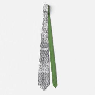 graphic patchwork black black green design tie