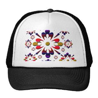 Graphic pattern mesh hat