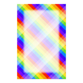 Graphic Pattern in Rainbow Colors. Customised Stationery