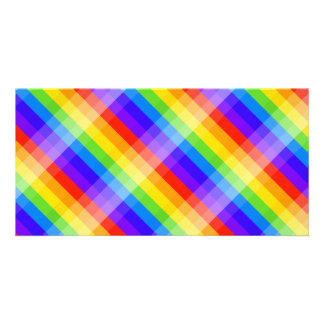 Graphic Pattern in Rainbow Colors Photo Greeting Card