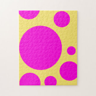 GRAPHIC PATTERN PINK POLKA DOT YELLOW PUZZLE