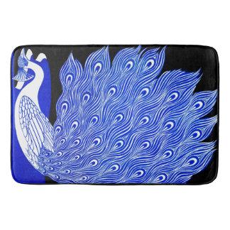 Graphic Peacock Bath Mat