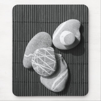 Graphic pebbles mouse pad