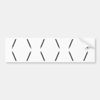 Graphic pen pattern bumper sticker