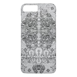 Graphic Pen Psychedelic Skull iPhone 7 Plus Case