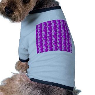 graphic pink purple pattern doggie t shirt