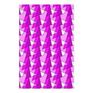 graphic pink purple pattern customized stationery