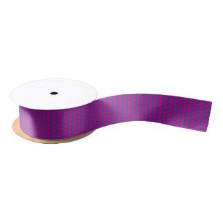 Graphic Polka Dots | Magenta Satin Ribbon