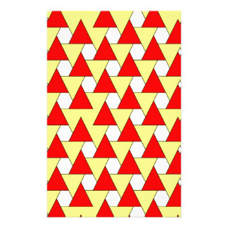 graphic red yellow pattern personalized stationery