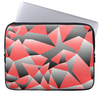 Graphic Shattered Geometry Textured Laptop Case