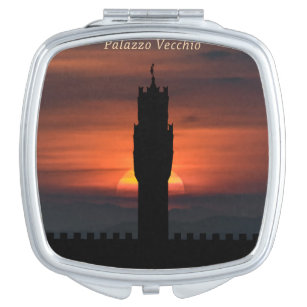 Graphic Silhouette Florence Poster Makeup Mirror