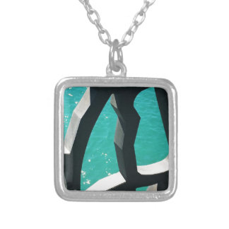Graphic Silver Plated Necklace