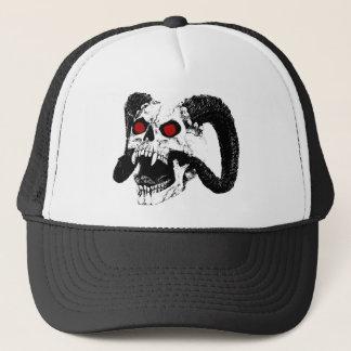 Graphic skull trucker hat