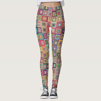 Graphic Squares Design Leggings