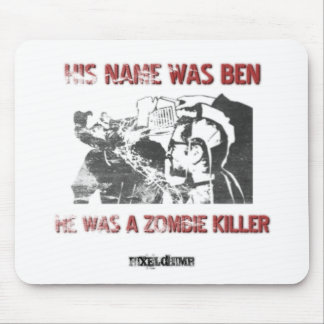 Graphic Stencil Zombie Killer Mouse Pad
