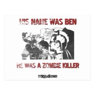Graphic Stencil Zombie Killer Post Cards