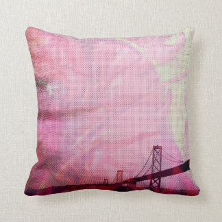 graphic stormed Bay bridge Pillow