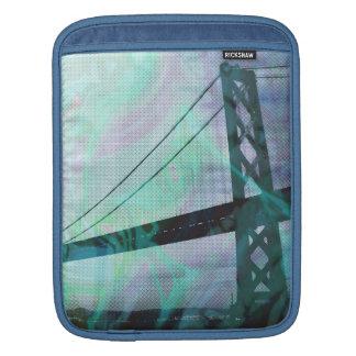 graphic stormed bridge iPad sleeve