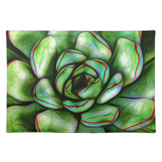 Graphic Succulent Place Mat