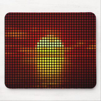 Graphic sun dots in retro - Mousepads